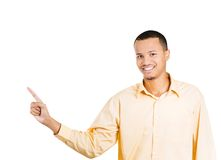 Man pointing left Stock Photography