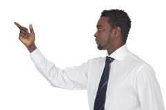 Man pointing at nothing Stock Photography