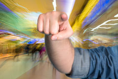 Man pointing out towards you Stock Photography