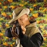 Man pointing rifle. Stock Photos
