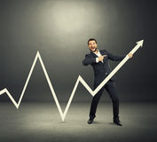Man pointing and screaming Stock Image