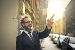 Man pointing at something Royalty Free Stock Image