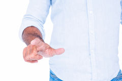Man pointing something with his finger Royalty Free Stock Image