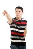 Man pointing at something interesting Royalty Free Stock Photo