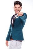 Man pointing at something interesting Stock Image