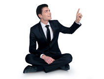 Man pointing something Royalty Free Stock Photography