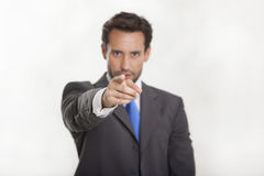 Man in Suit Pointing Forward Stock Images