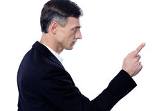 Man pointing to something Stock Photo