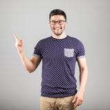 Man pointing towards something Royalty Free Stock Image