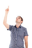 Man pointing up Royalty Free Stock Photo
