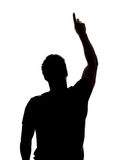 Man pointing up Stock Photo