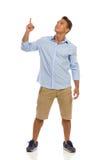 Man Pointing Up Royalty Free Stock Photos