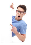 Man pointing at whiteboard Royalty Free Stock Photography