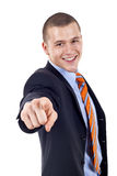 Man pointing at you Stock Images