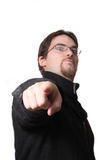 Man pointing at you Royalty Free Stock Photos