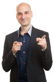 Man pointing at you Stock Photography