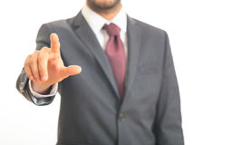 Man pointing at you stock photo