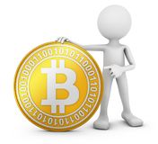 Man with bitcoin Royalty Free Stock Photography