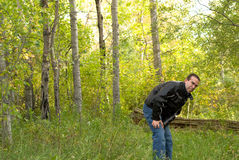 Man With Poison Ivy Stock Photography