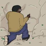 Man Poking Rock Stock Photos