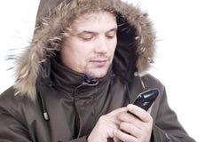 The man the polar explorer Stock Photos