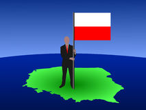 Man with Polish flag Stock Photo