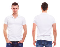 Man with polo shirt. Young man with polo shirt on a white background Stock Photography