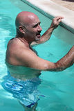 Man In The Pool Stock Photography