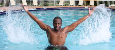 Man In A Pool Royalty Free Stock Photos