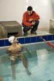 Man in Pool Royalty Free Stock Photo
