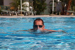 Man in pool Royalty Free Stock Photos