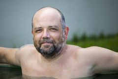 Man pool Royalty Free Stock Photos