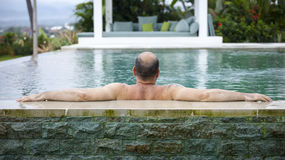 Man pool Stock Image