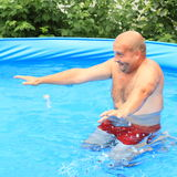 Man in pool Royalty Free Stock Photos