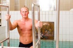 man pool spa Στοκ εικόνες με δικαίωμα ελεύθερης χρήσης