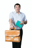 Man with portfolio. Stock Images