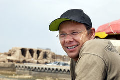 Man portrait. A young smiling cheerful carefree man portrait Stock Photo