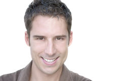 Man portrait. Closeup portrait of atractive young adult Royalty Free Stock Photography
