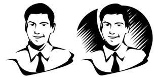 Man portrait. Illustration of smiling man. JPG + Vector stock illustration