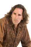 Man Portrait. Studio portrait of mid aged man with long hair Royalty Free Stock Photos