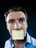 Man Portrait adhesive note Royalty Free Stock Photo