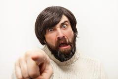 Man portrait agrressiv Stock Image