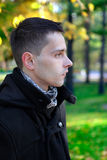 Man Portrait at the Autumn Park Royalty Free Stock Images