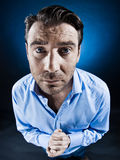 Man Portrait Beg Desperate Royalty Free Stock Image