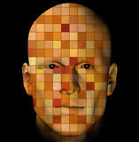 Man portrait with colorful squares Stock Photography