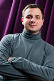 Man portrait with crossed arms Stock Photo