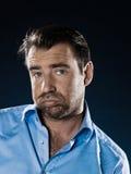 Man Portrait Despair Beg Royalty Free Stock Images