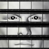 Man portrait filmstrip Stock Photos