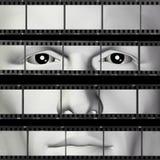 Man portrait filmstrip Stock Photos