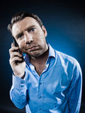 Man Portrait Frown bored Royalty Free Stock Images